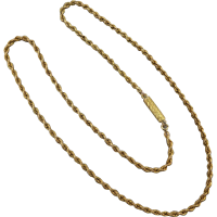 antique_rope_necklace Beryl Lane - Antique Dainty Rock Crystal Necklace in 9ct Gold