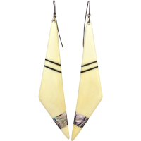 art_deco_bone_shell_inlay_earrings Beryl Lane - SOLD