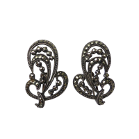 art_deco_marcasite_earrings Beryl Lane - SOLD