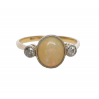 art_deco_opal_and_diamond_ring Beryl Lane - SOLD