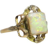 art_nouveau_opal_ring Beryl Lane - Art Deco Australian Opal Doublet & Diamond Bar Brooch