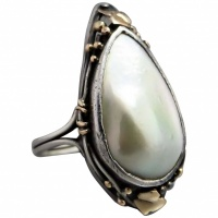 arts-crafts-australian-rhoda-wager-sterling-silver-pearl-ring Beryl Lane - Rings