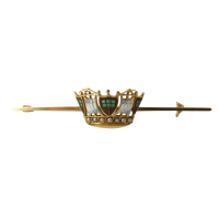 15ct-Yellow-Gold-Enamel-and-Seed-Pearl-Royal-Navy-Sweetheart-Bar-Brooch-325-3 Beryl Lane - SOLD