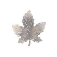 Sterling Silver Canadian Maple Leaf Brooch- signed BM Co Breadner Manufacturing Co 45 Beryl Lane - SOLD