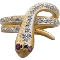 diamond_snake_ruby_ring Beryl Lane - SOLD