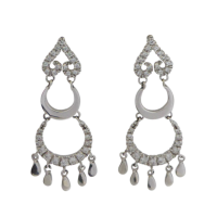 18ct-White-Gold-Italian-Cubic-Zirconia-Chandelier-Earrings-408-1 Beryl Lane - Estate 9ct Gold Diamond E/F Colour 1.40tcw Channel-set Oval Hoop Earrings