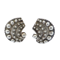 Vintage-800-Continental-Silver-Decorative-Clip-on-Earrings--67 Beryl Lane - SOLD