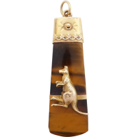 edwardian_tiger_eye_and_kangaroo_pendant Beryl Lane - SOLD