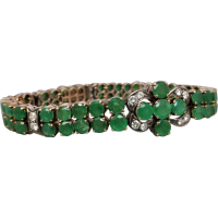 emerald-and-diamond-bracelet Beryl Lane - Vintage 9ct Gold Opal Beads & Faceted Quartz Bracelet