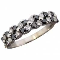 estate-18ct-white-gold-black-white-diamond-ring Beryl Lane - Rings