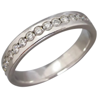 estate-18ct-white-gold-full-hoop-full-diamond-band Beryl Lane - Rings