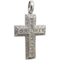 estate-18k-white-gold-1-50tcw-cross-pendant Beryl Lane - New In