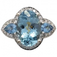 estate-18k-white-gold-aquamarine-diamond-ring Beryl Lane - Modern (1980- Present)