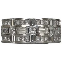 estate-18k-white-gold-fancy-geometric-diamond-ring Beryl Lane - Rings