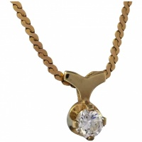 estate-9k-gold-sparkling-cubic-zirconia-pendant_necklace-jpg Beryl Lane - Estate 14ct Yellow Gold Natural Ruby and Diamond Pendant