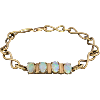 estate-gold-opal-infinity-bracelet Beryl Lane - SOLD