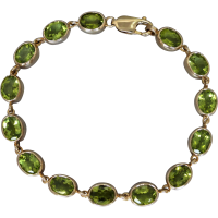 estate-peridot-gold-bracelet Beryl Lane - SOLD
