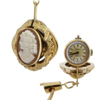 felicia_cameo_pendant_watch Beryl Lane - Watches & Timepieces