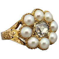 georgian-18th-century-pearl-and_rose-cut-diamond-ring Beryl Lane - Rings