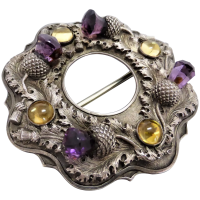 georgian-19th-century-scottish-amethyst-citrine-brooch Beryl Lane - Victorian (1837- 1901)