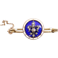 georgian_enamel_diamond_brooch Beryl Lane - SOLD