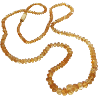 graduated_citrine_necklace Beryl Lane - Vintage Art Deco c1920 Briolette Rock Crystal Necklace with 9k Gold Clasp