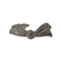 marcasite_lega_brooch Beryl Lane - Vintage 1930's Art Deco German Sterling Silver Marcasite 'Bird in Flight' Brooch