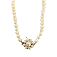 Vintage-Cultured-Akoya-Pearl-Strand-20-inch-with-9ct-Pearl-Cluster-Clasp-558 Beryl Lane - SOLD