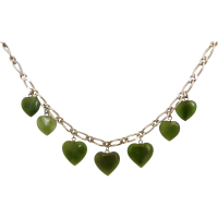 nephrite_jade_heart_necklace Beryl Lane - Graduated Faceted Natural Golden Citrine Strand Necklace