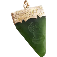 nephrite_jade_nz_pendant Beryl Lane - SOLD