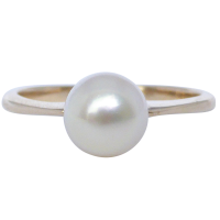 pearl-gold-ring Beryl Lane - SOLD