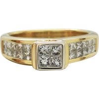 princess_cut_diamond_engagement_ring Beryl Lane - Rings