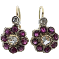 ruby_and_diamond_antique_earrings Beryl Lane - diamond stud earrings