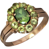 russian-demantoid-garnet-cluster-ring Beryl Lane - SOLD
