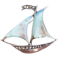 sailboat_vintage_brooch Beryl Lane - SOLD