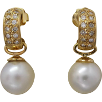 south-sea-pearl-and-diamond-earrings Beryl Lane - SOLD
