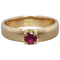 upcycled-18k-gold-natural-ruby-solitaire-ring Beryl Lane - Rings