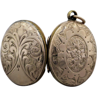 victorian-engraved-mourning-hair-locket Beryl Lane - Necklaces & Pendants