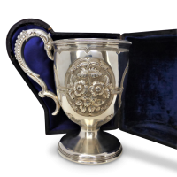 victorian-sterling-silver-repousse-mug Beryl Lane - Collectibles
