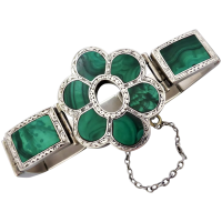 victorian-sterling-silver-scottish-malachite-bracelet Beryl Lane - New In