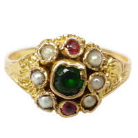 victorian_cluster_12ct_ring Beryl Lane - Victorian (1837- 1901)