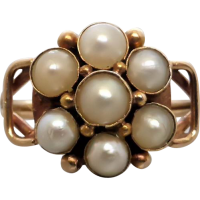 victorian_pearl_cluster_ring Beryl Lane - Victorian (1837- 1901)