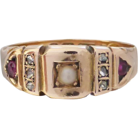 victorian_ruby_diamond_pearl_ring Beryl Lane - SOLD