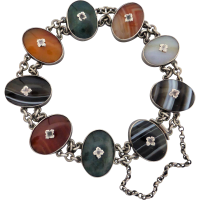 victorian_scottish_agate_bracelet Beryl Lane - Antique Victorian Graduated Banded Agate Bead Necklace