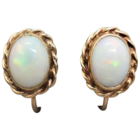 vintage-10k-gold-solid-australian-opal-earrings_2 Beryl Lane - Vintage 9ct Gold Opal Beads & Faceted Quartz Bracelet