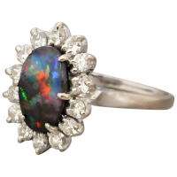 vintage-18k-gold-boulder-opal-diamond-cluster-ring Beryl Lane - Rings