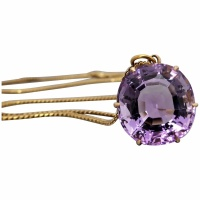 vintage-18k-yellow-gold-amethyst_pendant-necklace Beryl Lane - Vintage (1920- 1970)