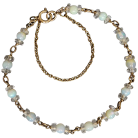 vintage-9k-gold-opal-beads-and-quartz-bracelet Beryl Lane - Vintage (1920- 1970)
