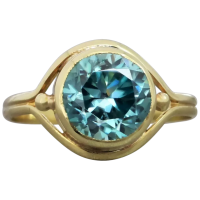 vintage-art-deco-14k-gold-blue-zircon-ring Beryl Lane - Rings