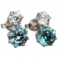 vintage-art-deco-18ct-white-gold-blue-zircon-earrings Beryl Lane - Upcycled Vintage Jewellery